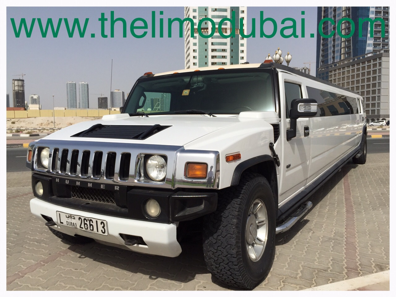 Hummer H2 VVIP 22 Pax front
